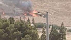 عاجل.. لحظة سقوط صاروخ كاتيوشا على مستوطنة إسرائيلية (فيديو)