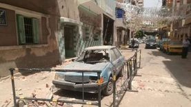 انهيار شرفة عقار بشارع الأقصر في الإسماعيلية