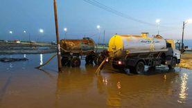 صور.. أمطار غزيرة بكفر الشيخ والوحدات المحلية ترفع المياه من الشوارع