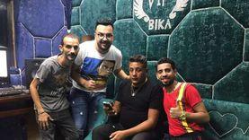 """""""عليت في ناس"""" حمو بيكا ينتهي من تسجيل دويتو مع محمد صيام (صور)"""