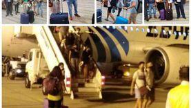 الأقصر تستقبل سياح أولى رحلات الطيران العارض من إسبانيا بالورود