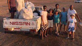 حملة لنظافة منطقة اللاجونا في مدينة دهب بمشاركة السياح