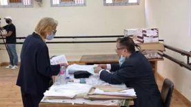 فايزة أبو النجا تدلي بصوتها في انتخابات الشيوخ