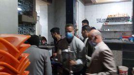 في اليوم الأول لقرار غلق المحال: ضبط 250 شيشة وغلق 3 مقاهٍ بالقليوبية