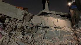 انهيار عقار مكون من 5 طوابق في الدقهلية