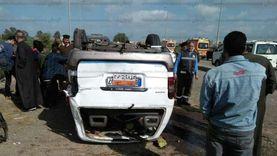 بالأسماء..إصابة 6 أشخاص في حادث تصادم سيارتين بالبحيرة