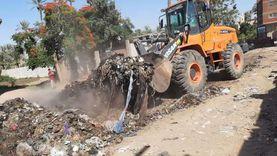 محافظة الجيزة: رفع 350 طن مخلفات أسفل الطريق الدائري بالهرم