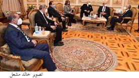 رئيس مجلس الشيوخ يستقبل أحمد أبو الغيط