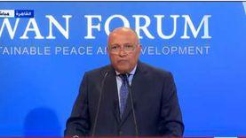 عاجل.. شكري: أي سياسات لفرض الأمر الواقع من أثيوبيا تعد «تجاوزا»