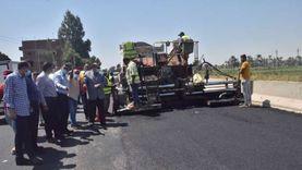 محافظ المنيا يوجه بإنجاز أعمال رصف طريق الصفصافة بمركز سمالوط