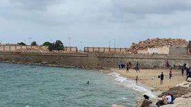 إغلاق بوغازي الإسكندرية بسبب سوء الأحوال الجوية