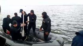 انتشال جثث ضحايا قارب بحيرة مريوط الغارق