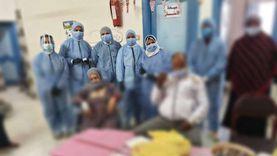 الأطباء يحتفلون برمضان مع مصابي «كورونا» في مستشفي السنطة المركزي