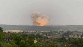 انفجار قوي بمصنع إسرائيلي لصناعة الصواريخ الباليستية (فيديو)