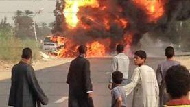اشتعال النيران في سيارة قرب ديوان محافظة كفر الشيخ