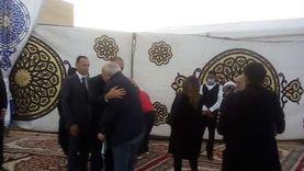 مصطفى الفقي يصل عزاء محمد فريد خميس