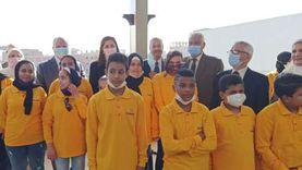"""صور.. افتتاح مدرسة """"تواصل"""" باسطبل عنتر: تستوعب 500 طالب"""