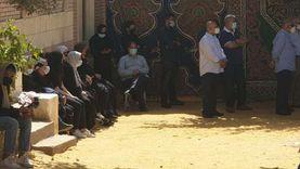 دفن جثمان مكرم محمد أحمد بمقابر القوات المسلحة بمدينة نصر