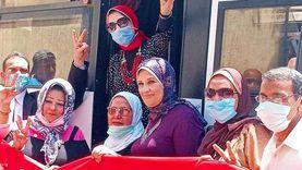 مسيرة لتعليم وسط الإسكندرية لحث المواطنين على المشاركة في الانتخابات