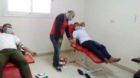 """استمرار فعاليات مبادرة """"20 دقيقه تنقذ حياة"""" للتبرع بالدم في كفر الشيخ"""