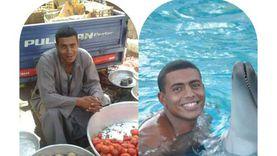 «كابتن صالح».. من بائع خضار إلى صاحب أكبر أكاديمية للسباحة بالأقصر