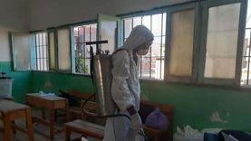 تطهير وتعقيم لجان انتخابية ومستشفيات في دمياط