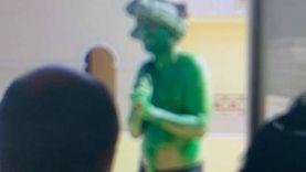 """دهن جسده وهاجم الأمن بـ""""سنجة"""".. تفاصيل مقتل الرجل الأخضر بمدينة الإنتاج"""
