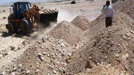 رئيس مدينة رأس سدر يتابع رفع كفاءة السدود بمنطقة وادي عسل