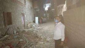 مصرع ربة منزل وابنتها وإصابة 3 في انهيار منزل بسوهاج