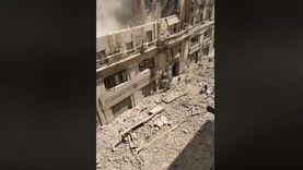 فيديو.. لقطات انهيار العقار رقم 50 في شارع قصر النيل