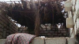 مبادرة حياة كريمة تعيد بناء منزل مزارع لحماية أسرته من الأمطار