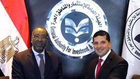 """""""عبدالوهاب"""" يبحث مع سفير رواندا التعاون الاستثماري مع مصر"""