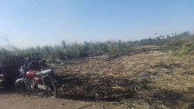 إخماد حريق هائل في زراعات القصب بقنا بسبب «عقب سيجارة»