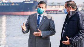 ميناء دمياط يستقبل 27 سفينة بواردات 45 ألف طن بضائع عامة
