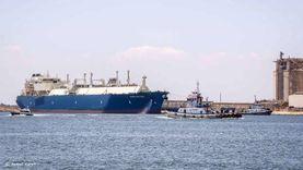 ناقلة الغاز المسال المحملة بـ65 ألف طن تغادر ميناء دمياط