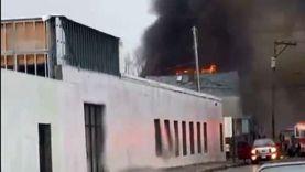 حريق هائل بورشة ملابس جاهزة في الدقهلية واحتراق 8 ماكينات