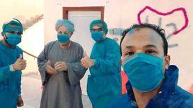 مستشفى نصر النوبة يودع آخر مصاب بكورونا