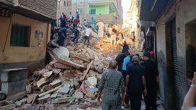 """ضبط 3 عمال بينهم """"مقاول حفر"""" في واقعة انهيار منزل المحلة"""
