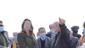 محافظ دمياط تتفقد موقع المنطقة الحرة الجديدة بكفر البطيخ