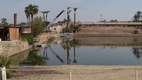 «زورق» في البحيرة المقدسة بمعابد الكرنك لأول مرة منذ 4000 عام