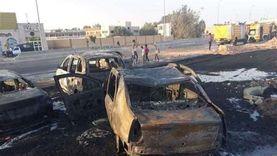 فيديوهات و20 صورة تكشف ساعات الهلع بحريق طريق الإسماعيلية الصحراوي