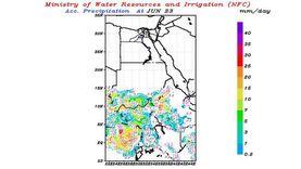 الري تكشف حالة الأمطار على الهضبة الإثيوبية اليوم وغدا: خفيفة لغزيرة