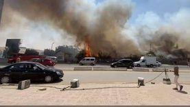 عاجل.. حريق هائل في ميدان الرماية