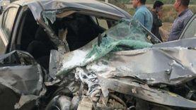 إصابة 3 أشخاص في حادث تصادم برافد الطريق الدولي في كفر الشيخ