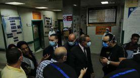 """محافظ كفر الشيخ يتفقد 21 مصابا في حادث انقلاب سيارة بـ""""سيدي سالم"""""""