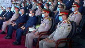 """رئيس """"الشيوخ"""" يحضر حفل تخريج الدفعات الجديدة من الكليات العسكرية"""
