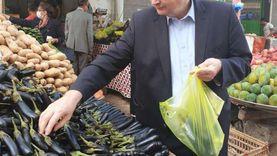 """صور.. رئيس بعثة الاتحاد الأوروبي يشتري """"باذنجان محشي"""" من سوق الخضار بمطروح"""