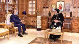 البابا يستقبل سفير مصر بهولندا و3 راهبات قبل سفرهن للخدمة بأمريكا