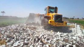 إزالة 328 تعديا علىأملاك الدولة ببني سويف