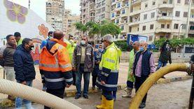 """""""القابضة لمياه الشرب"""" يتفقد المناطق الساخنة بمحافظة الإسكندرية"""